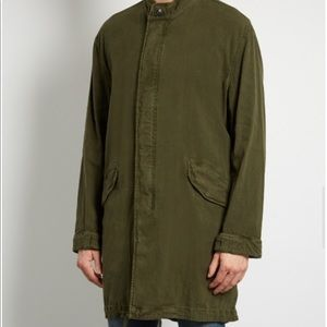 Men's cotton blend parka jacket coat